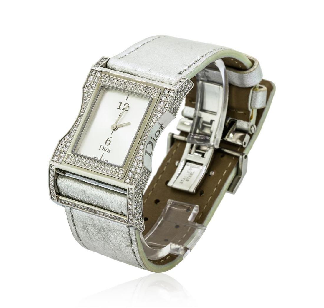 Christian Dior Diamond Wristwatch - Stainless Steel - 2