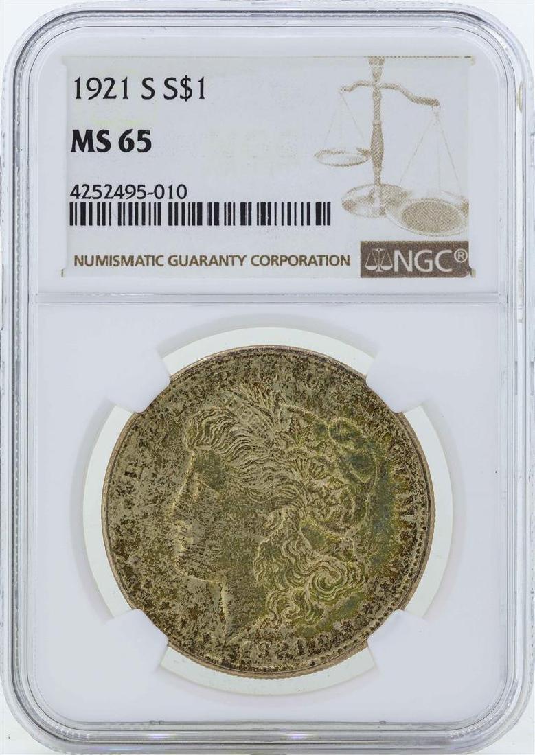 1921-S $1 Morgan Silver Dollar Coin NGC MS65