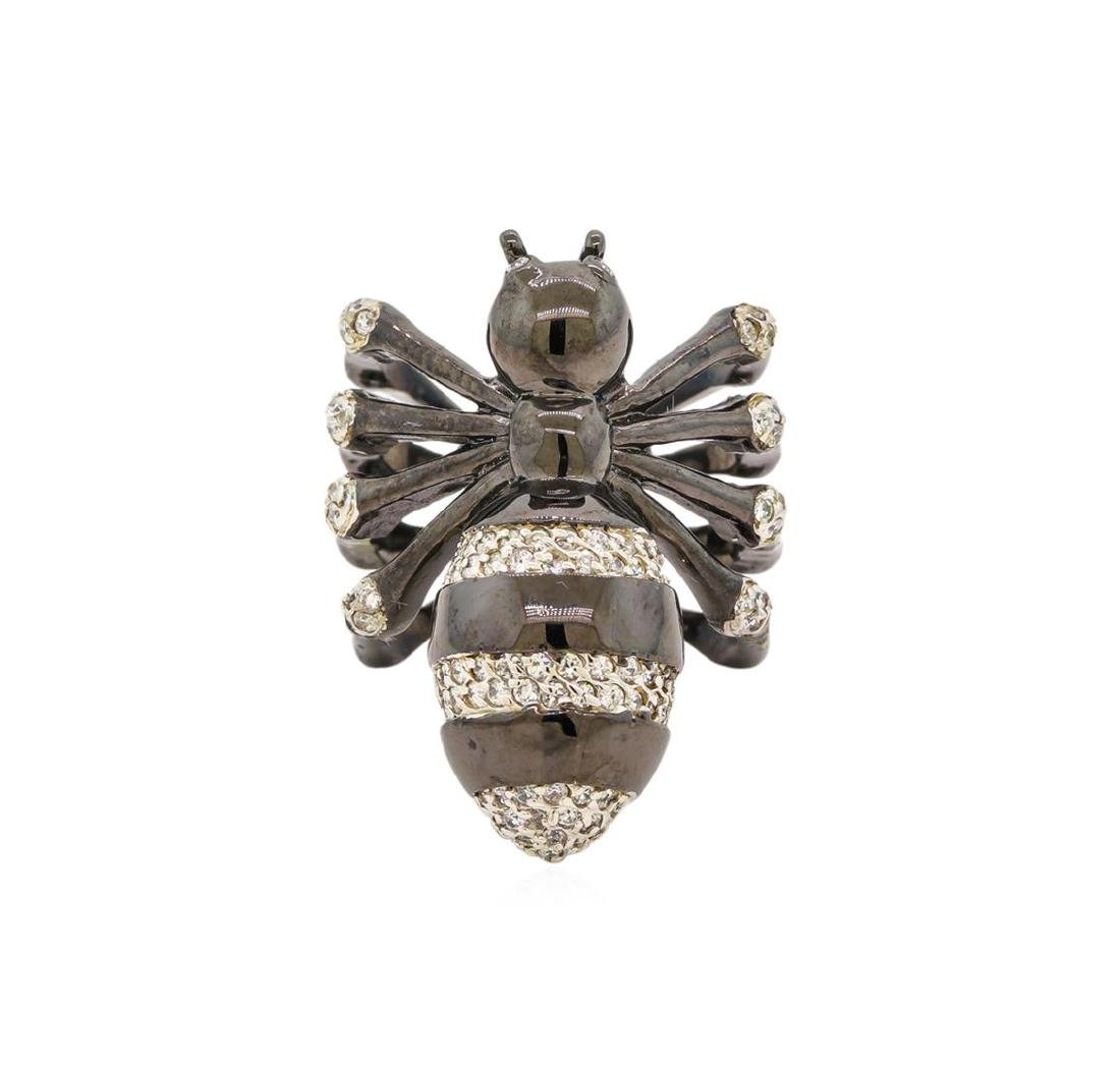 Sterling Silver Spider Ring - 2