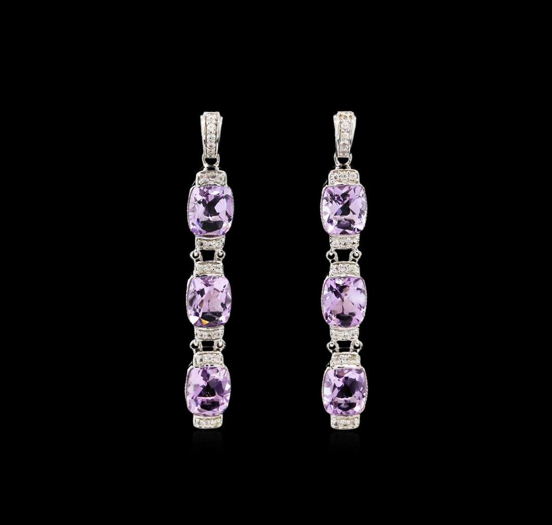 Crayola 15.60 ctw Pink Amethyst and White Sapphire