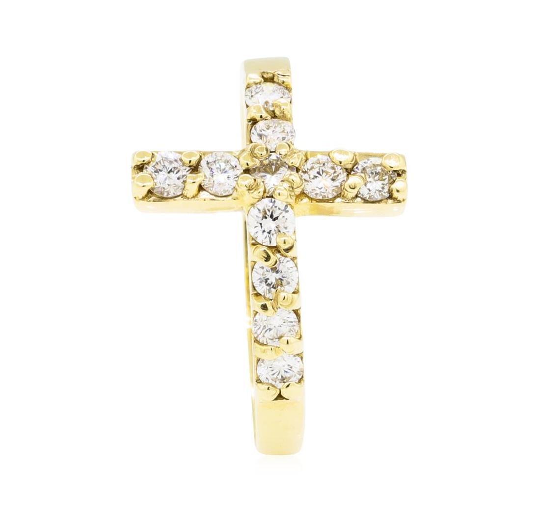 0.45 ctw Diamond Ring - 14KT Yellow Gold - 4