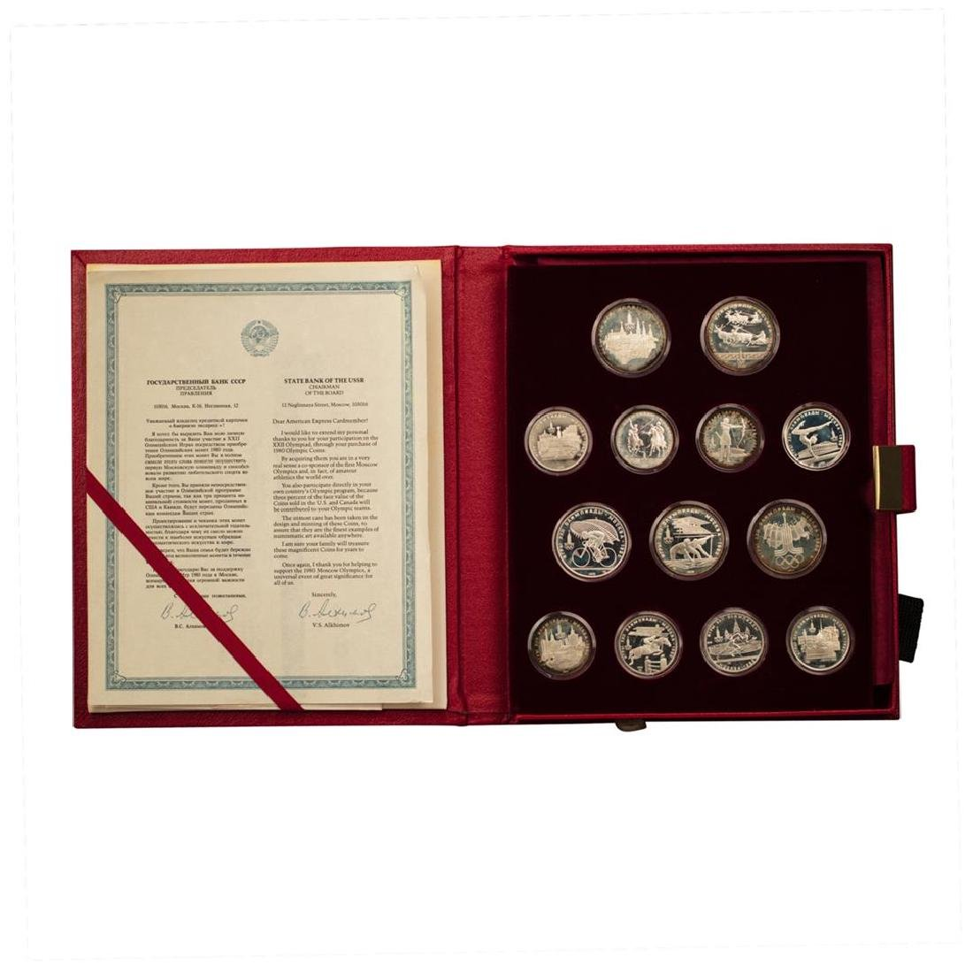1980 Russia Olympic 28 Coin Roubles Coin Set w/Box &