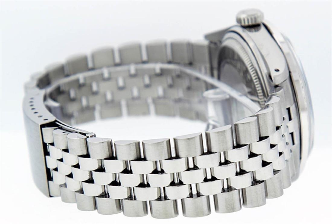 Rolex Mens Stainless Steel 36mm Black Diamond Dial - 3