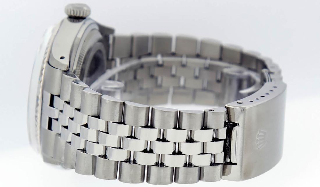 Rolex Mens Stainless Steel 36mm Black Diamond Dial - 4