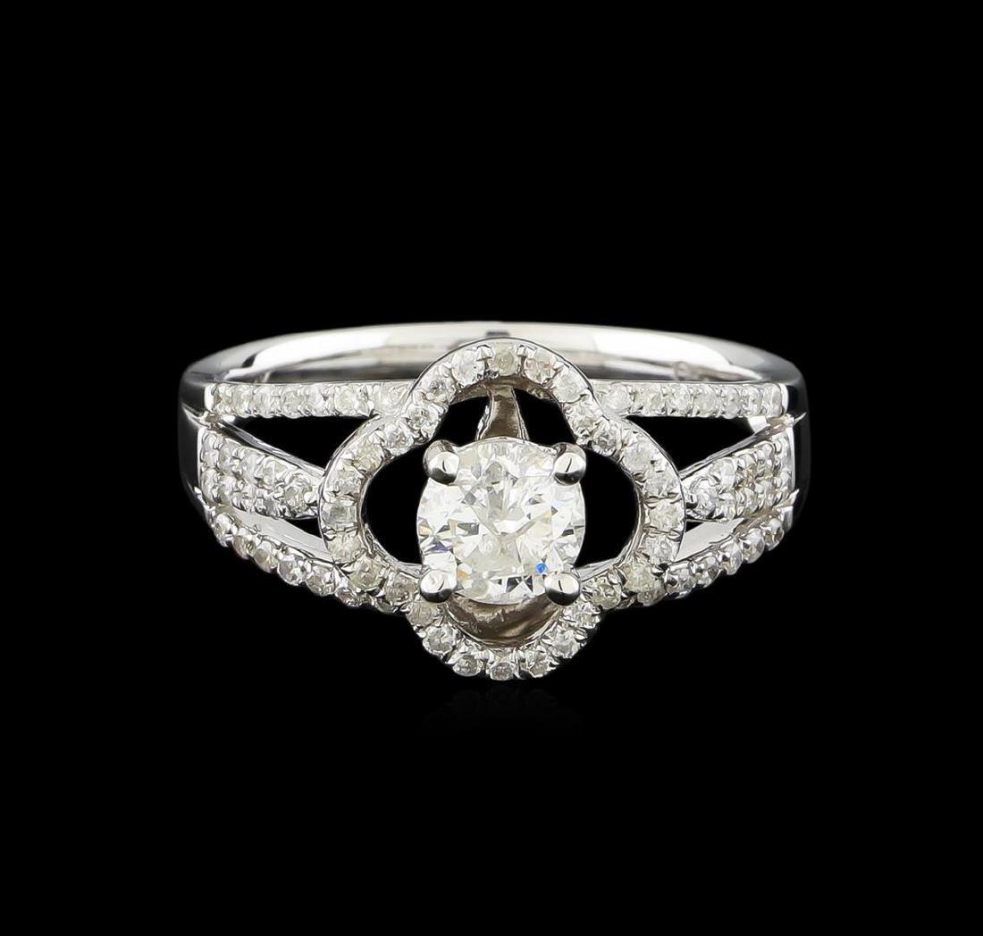 14KT White Gold 0.97 ctw Diamond Ring - 2