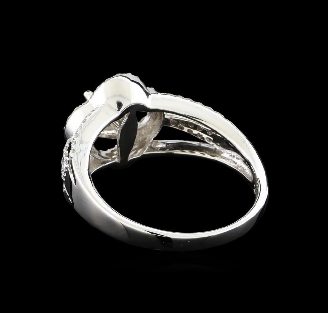 14KT White Gold 0.97 ctw Diamond Ring - 3