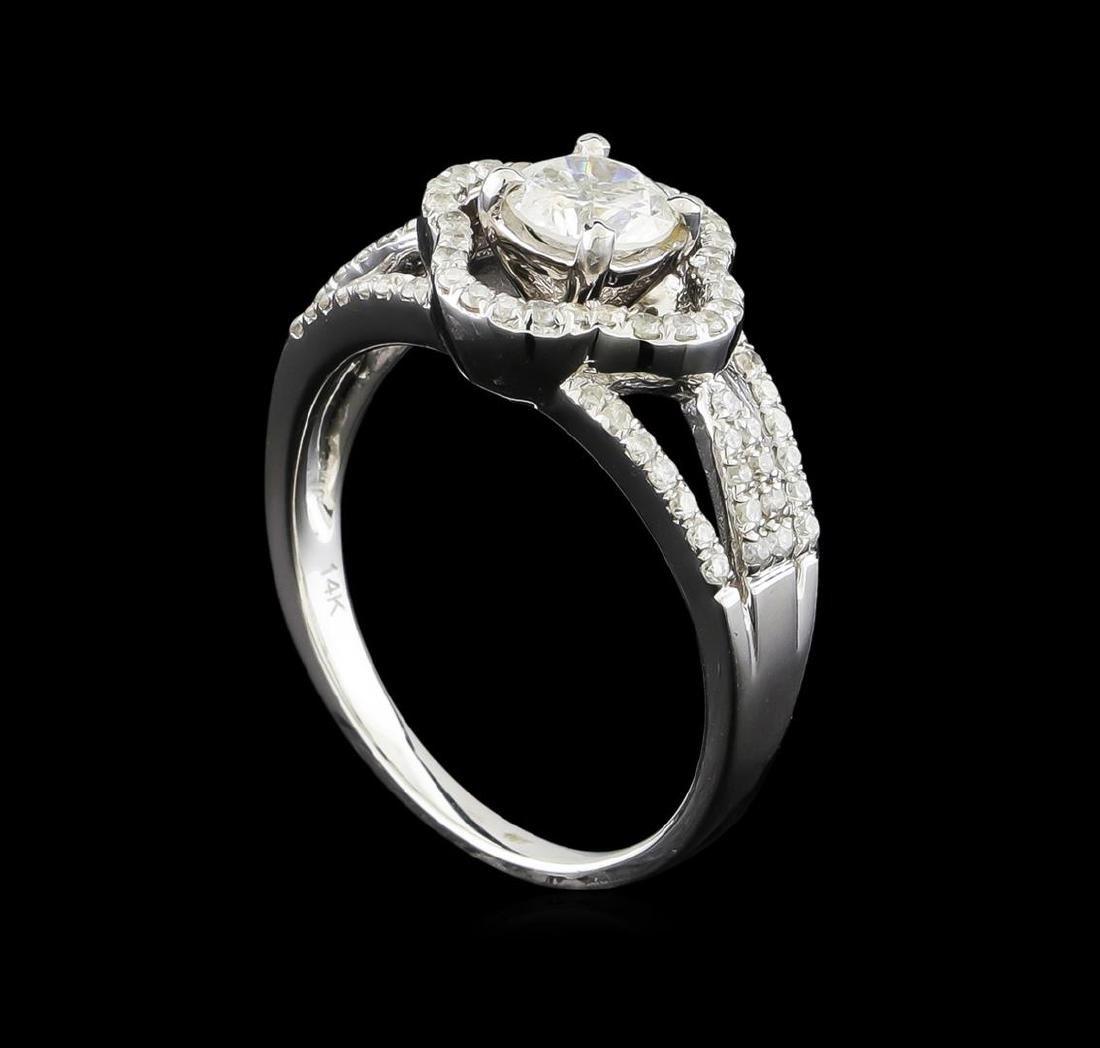 14KT White Gold 0.97 ctw Diamond Ring - 4