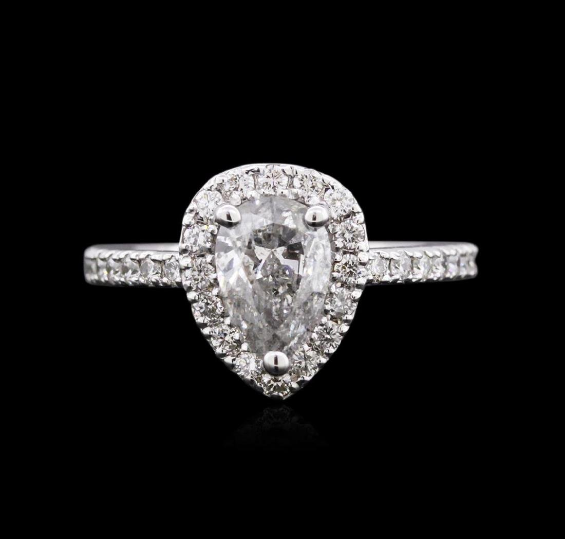 1.51 ctw Diamond Ring - 14KT White Gold - 2