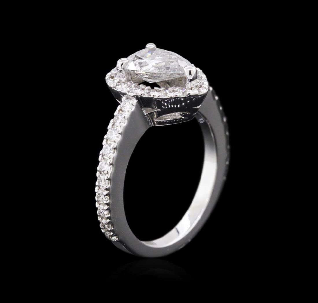 1.51 ctw Diamond Ring - 14KT White Gold - 3