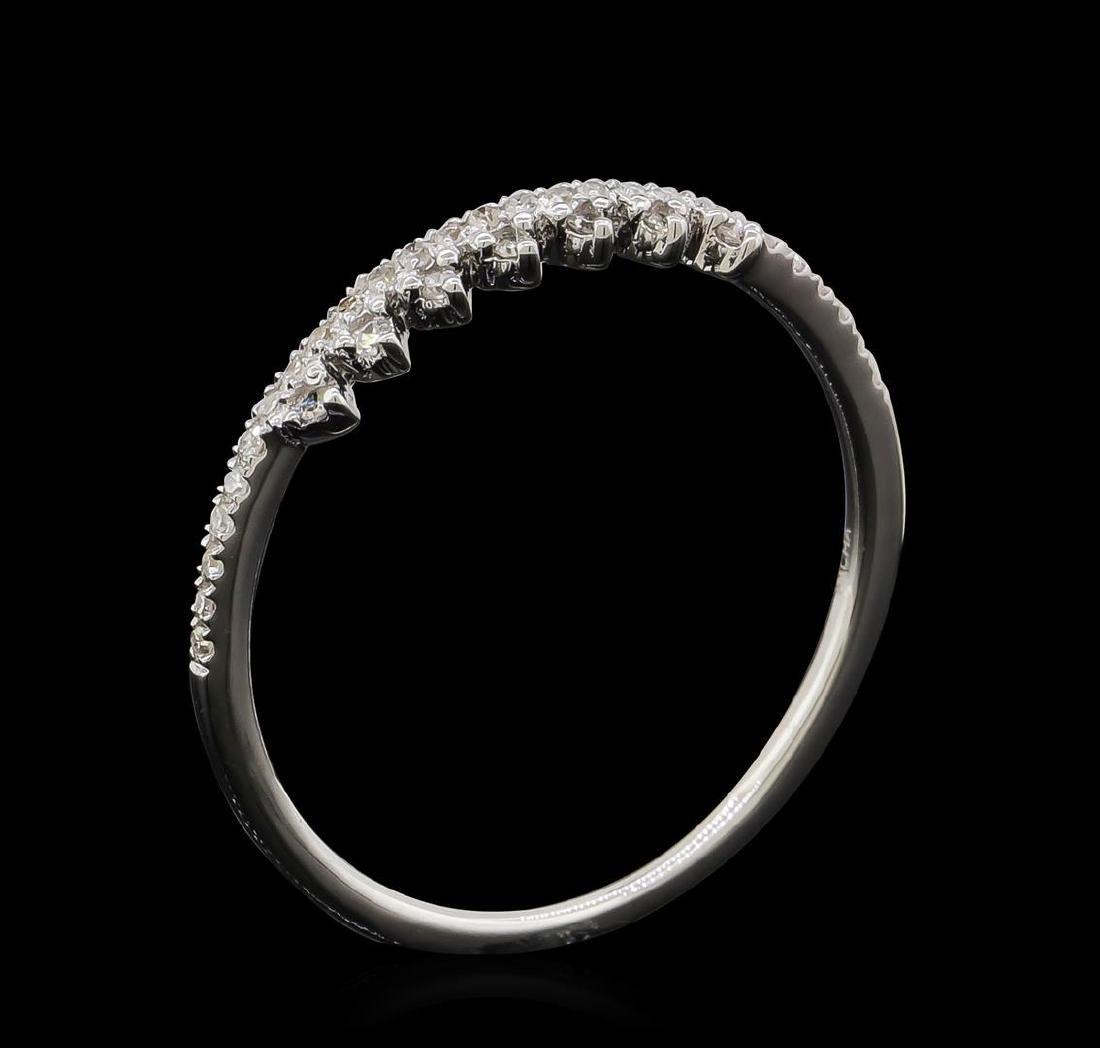 0.1 ctw Diamond Ring - 14KT White Gold - 4