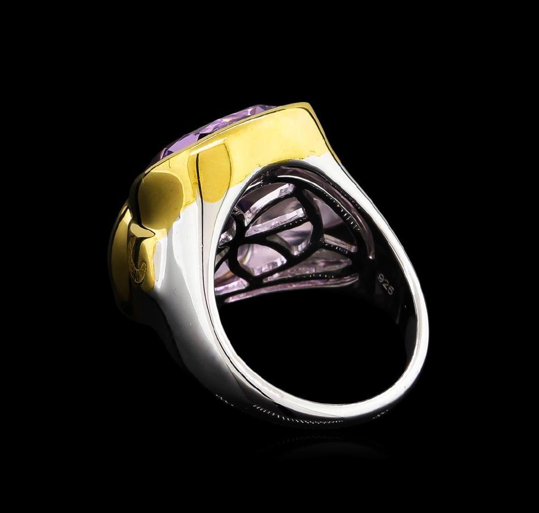 Crayola 8.90 ctw Pink Amethyst Ring - .925 Silver - 3
