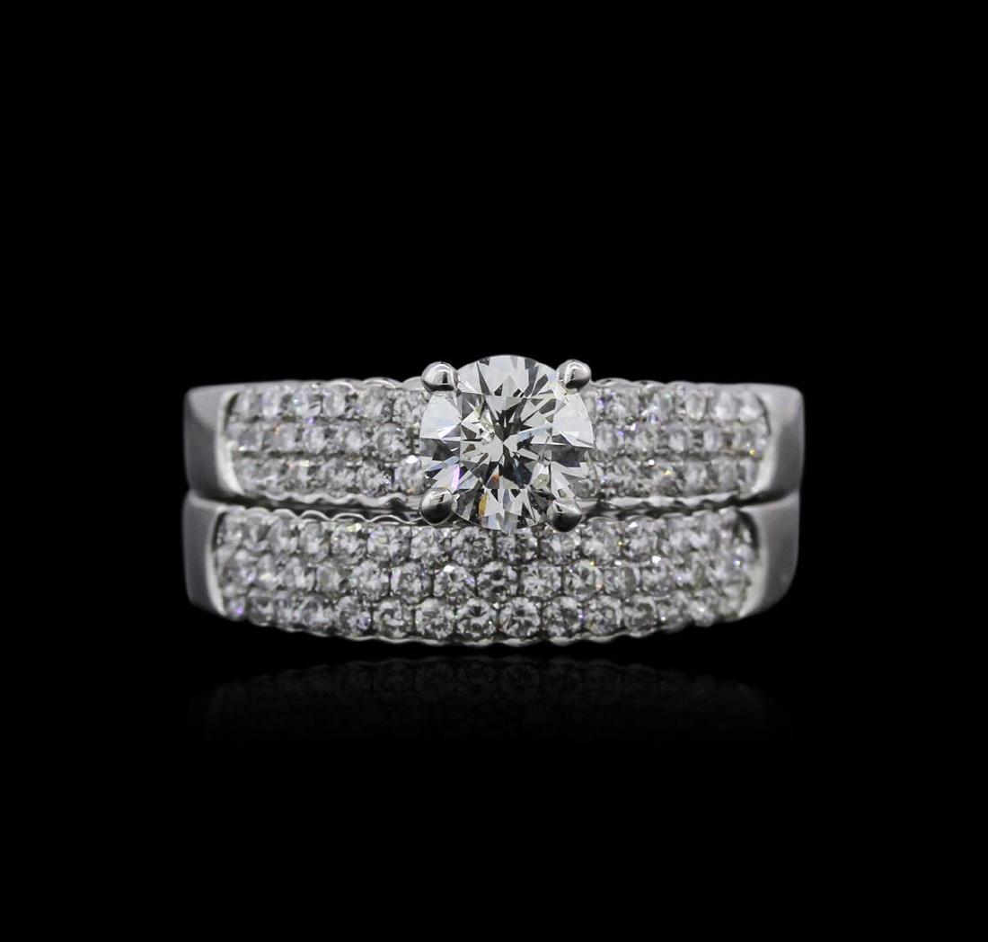 14KT White Gold 1.27 ctw Diamond Ring - 2