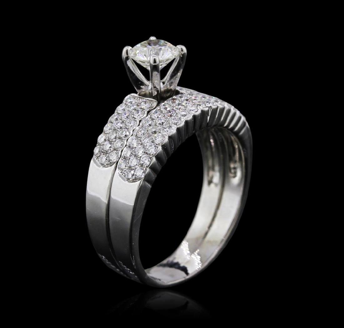 14KT White Gold 1.27 ctw Diamond Ring - 3