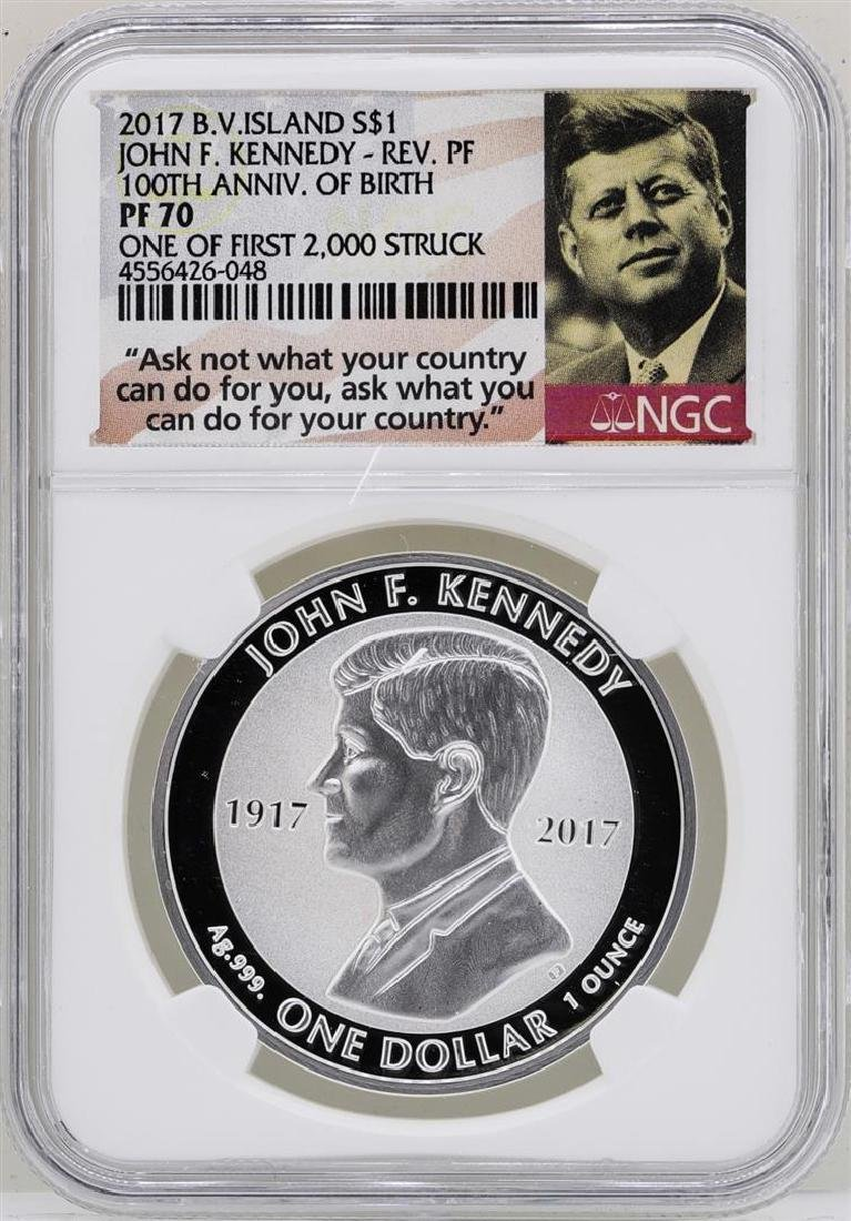2017 British Virgin Islands $1 John F. Kennedy Reverse