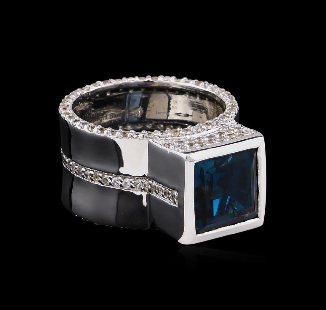 Crayola 4.20 ctw Blue Topaz and White Sapphire Ring -