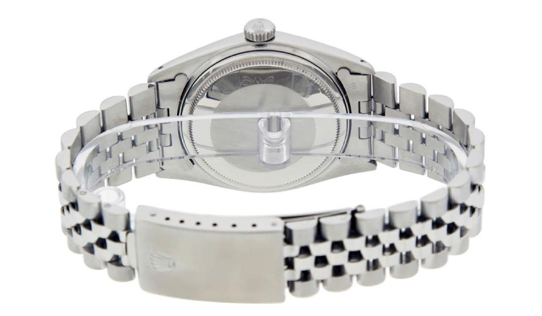 Rolex Mens Stainless Steel 36MM Slate Grey Roman - 7