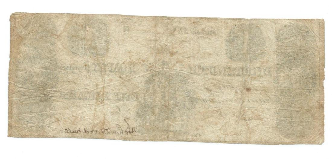 1800's $1 Monmouth Bank, Freehold NJ Obsolete Bank Note - 2
