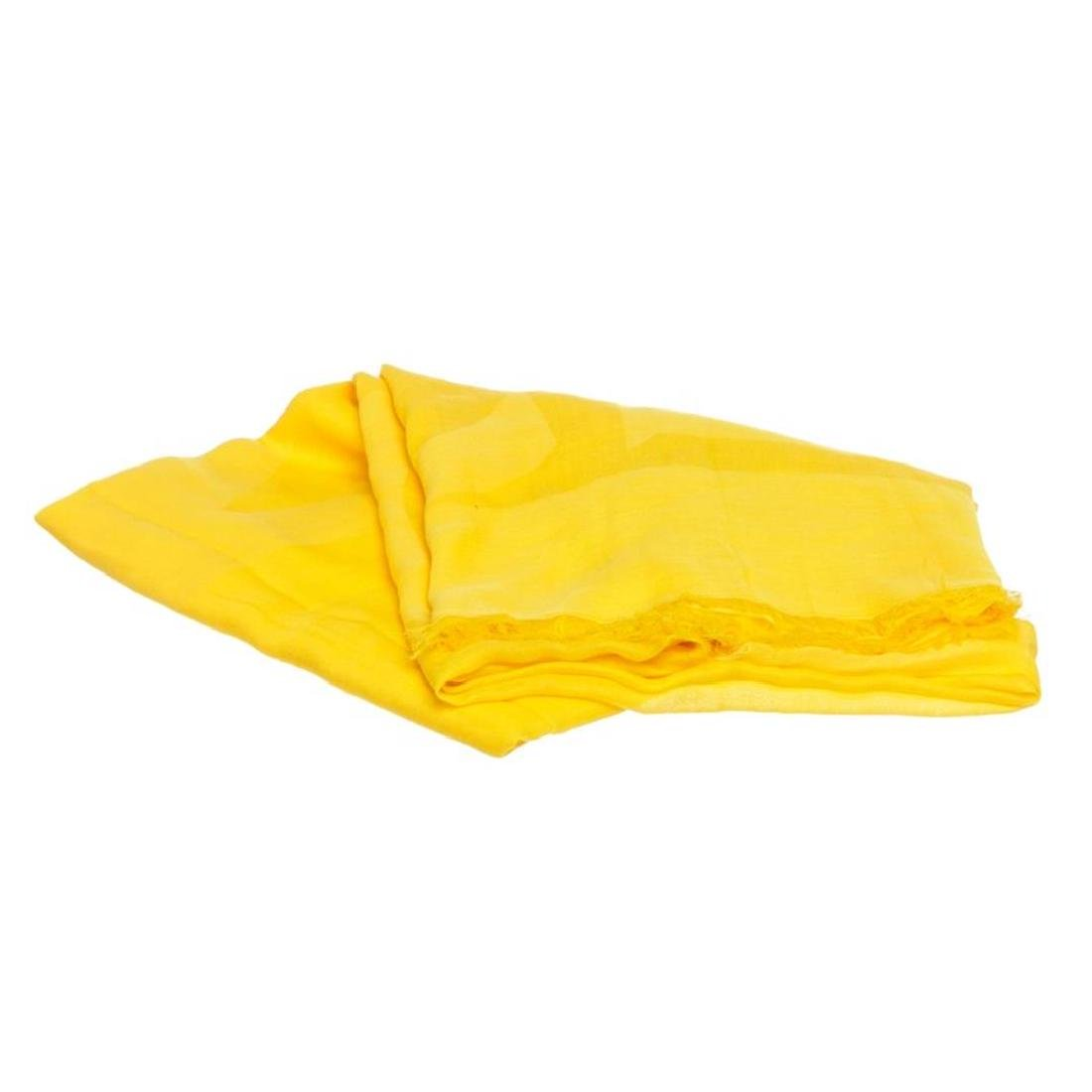 MCM Yellow Cotton Logo Scarf
