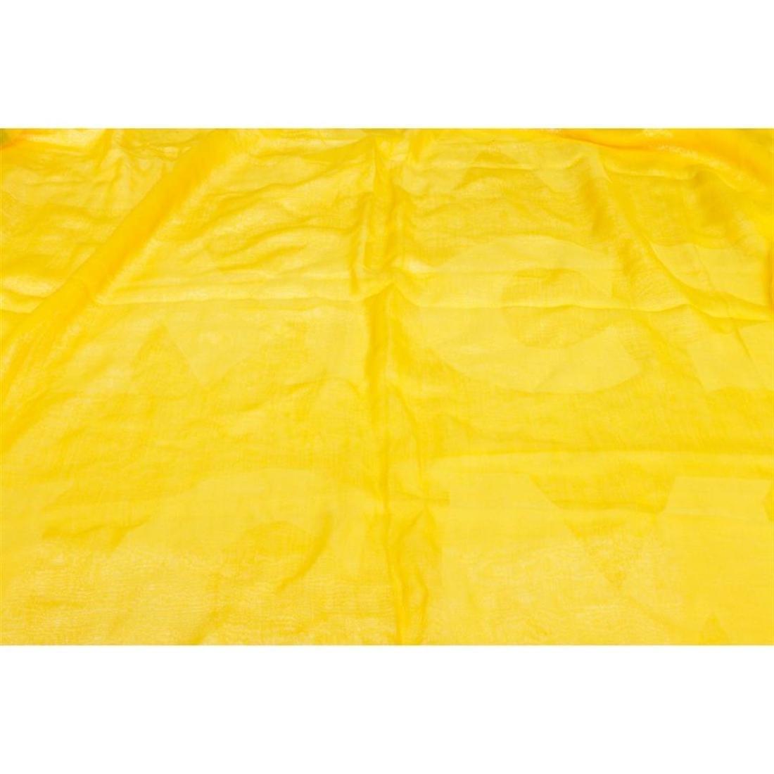 MCM Yellow Cotton Logo Scarf - 2