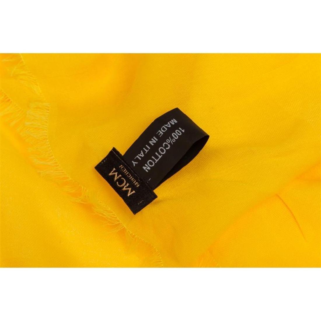 MCM Yellow Cotton Logo Scarf - 3