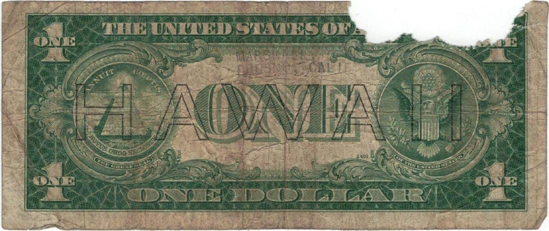 1935 $1 Hawaii Federal Reserve Note Currency - 2