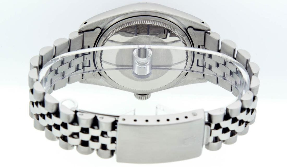 Rolex Mens Stainless Steel Mother Of Pearl Diamond & - 5