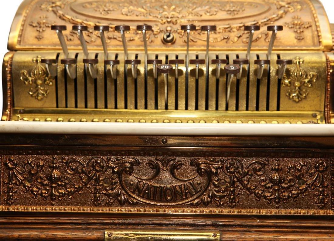 Vintage Brass National Cash Register - 3