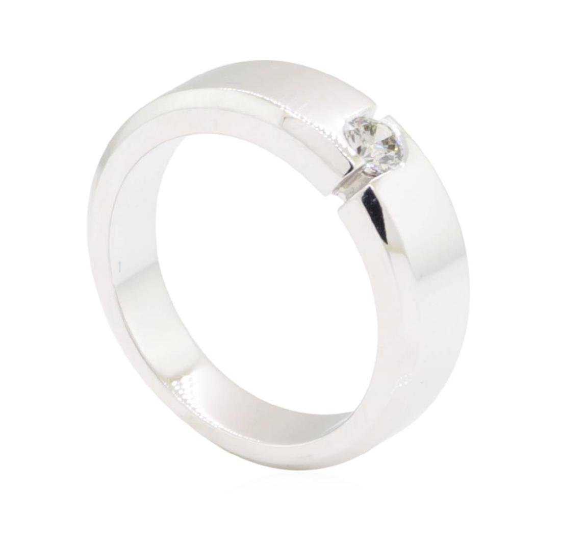 0.28 ctw Diamond Ring - 14KT White Gold - 4