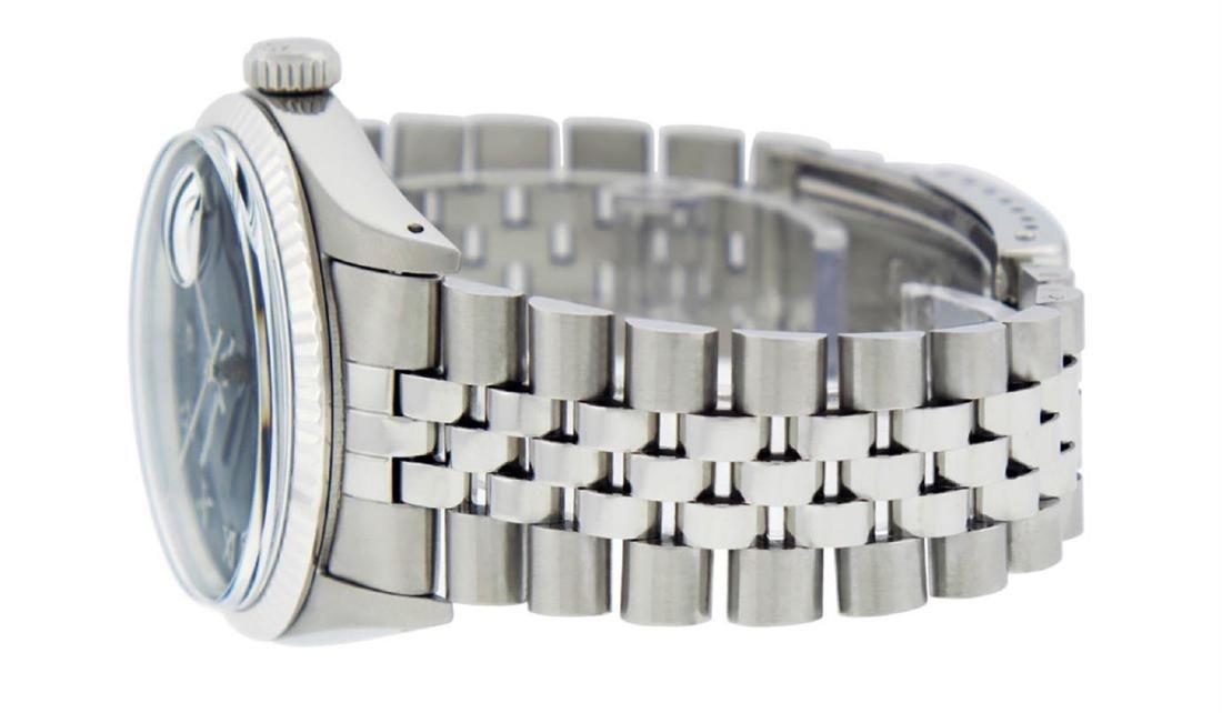 Rolex Mens Stainless Steel Black Roman Datejust 36MM - 5
