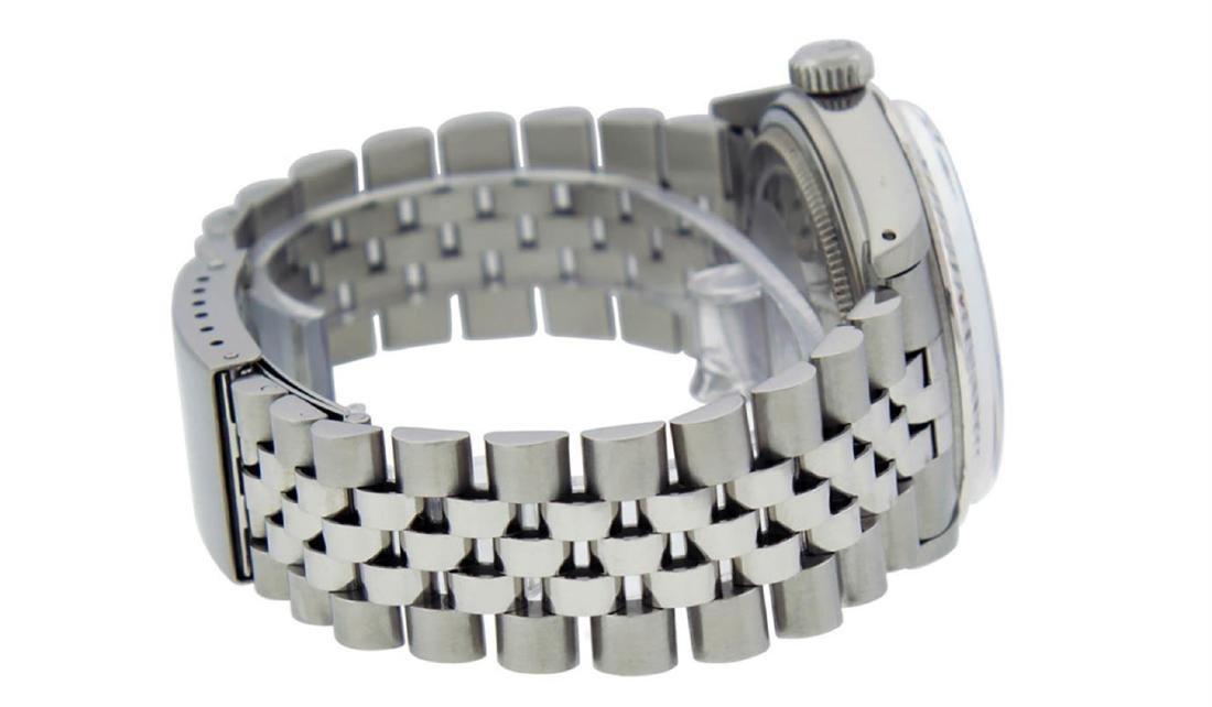 Rolex Mens Stainless Steel Black Roman Datejust 36MM - 8