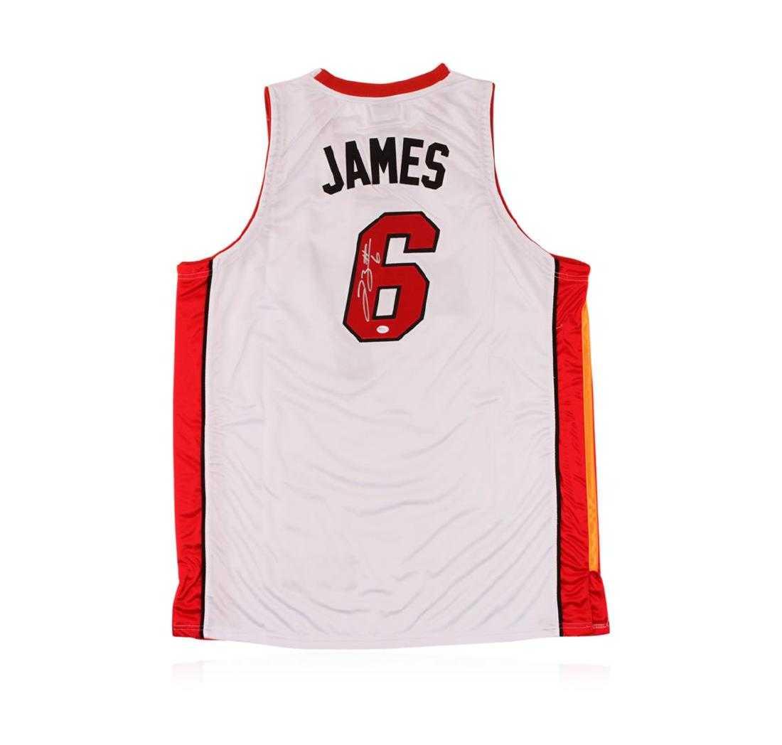 ca11970a5 Miami Heat LeBron James Autographed Jersey