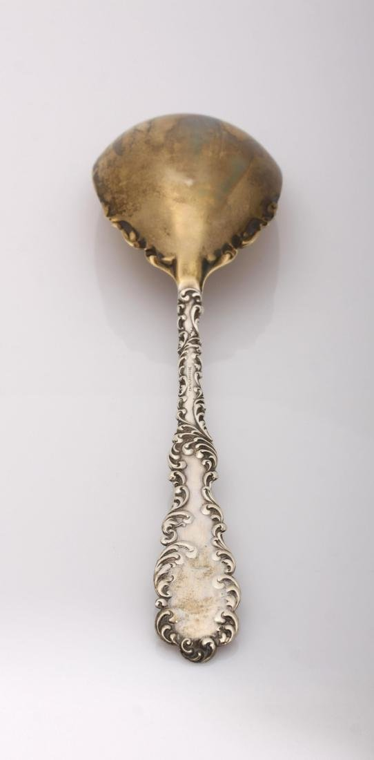 """Antique Sterling Silver """"Waverly"""" Gold Wash Spoon by - 3"""