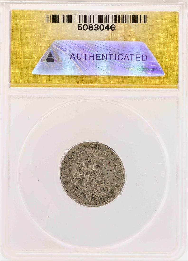 1702-GE Bohemia Leopold I AR 3 Kreuzer Prague Coin - 2