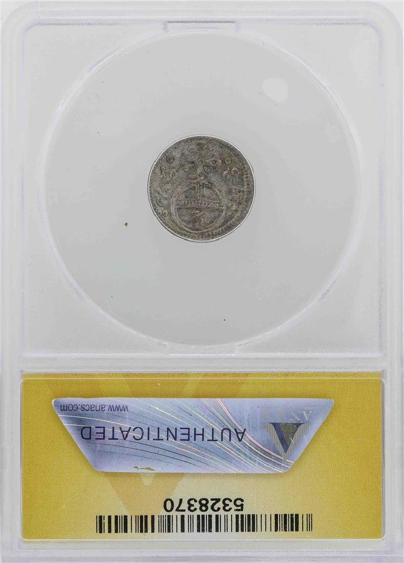 1669 Germany-Silesia Leopold 3 Pfennig Coin ANACS MS60 - 2
