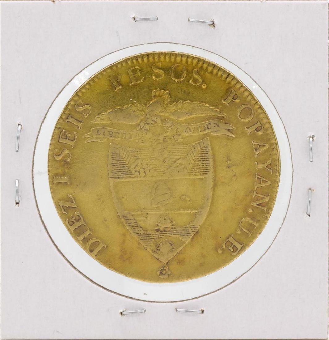 1846 Columbia Diez Pesos Gold Coin - 2
