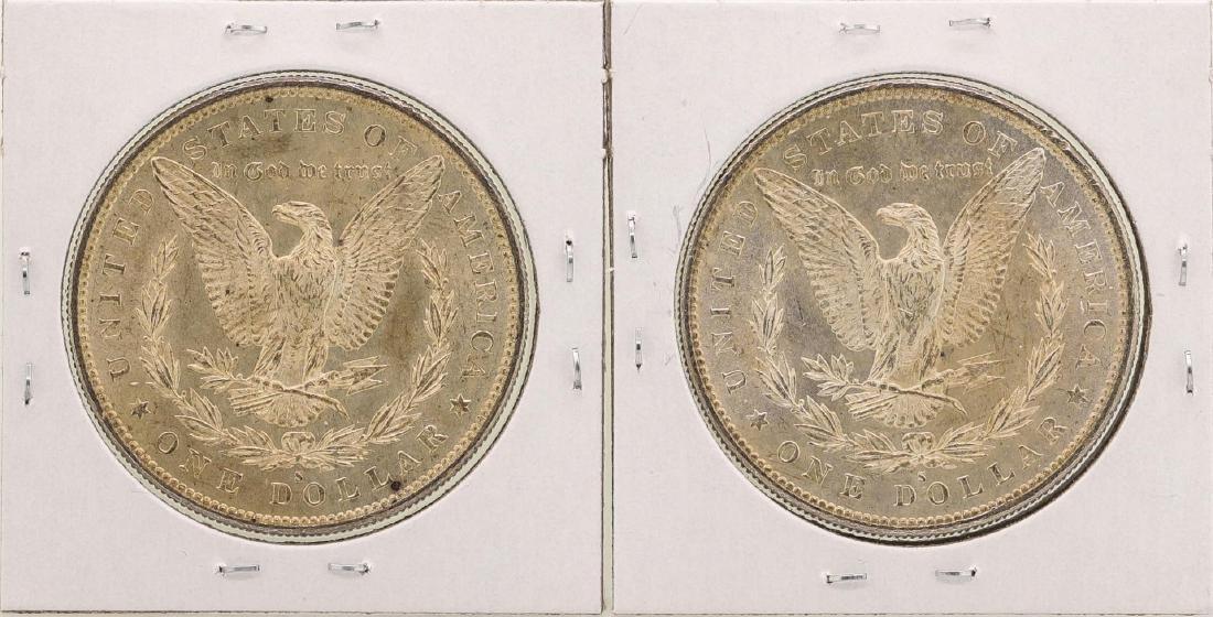Lot of (2) 1879-S $1 Morgan Silver Dollar Coins - 2