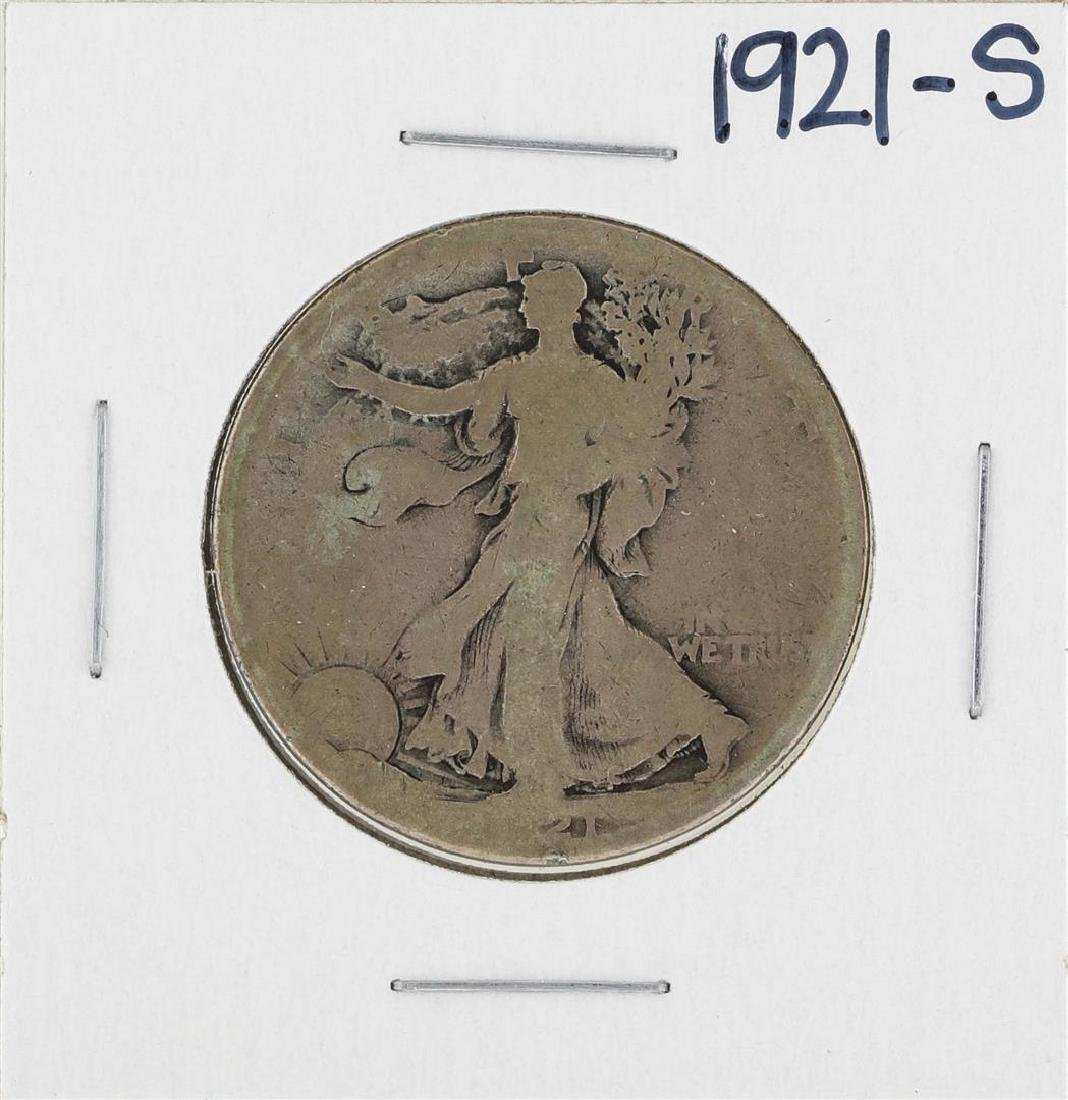1921-S Walking Liberty Half Dollar Silver Coin