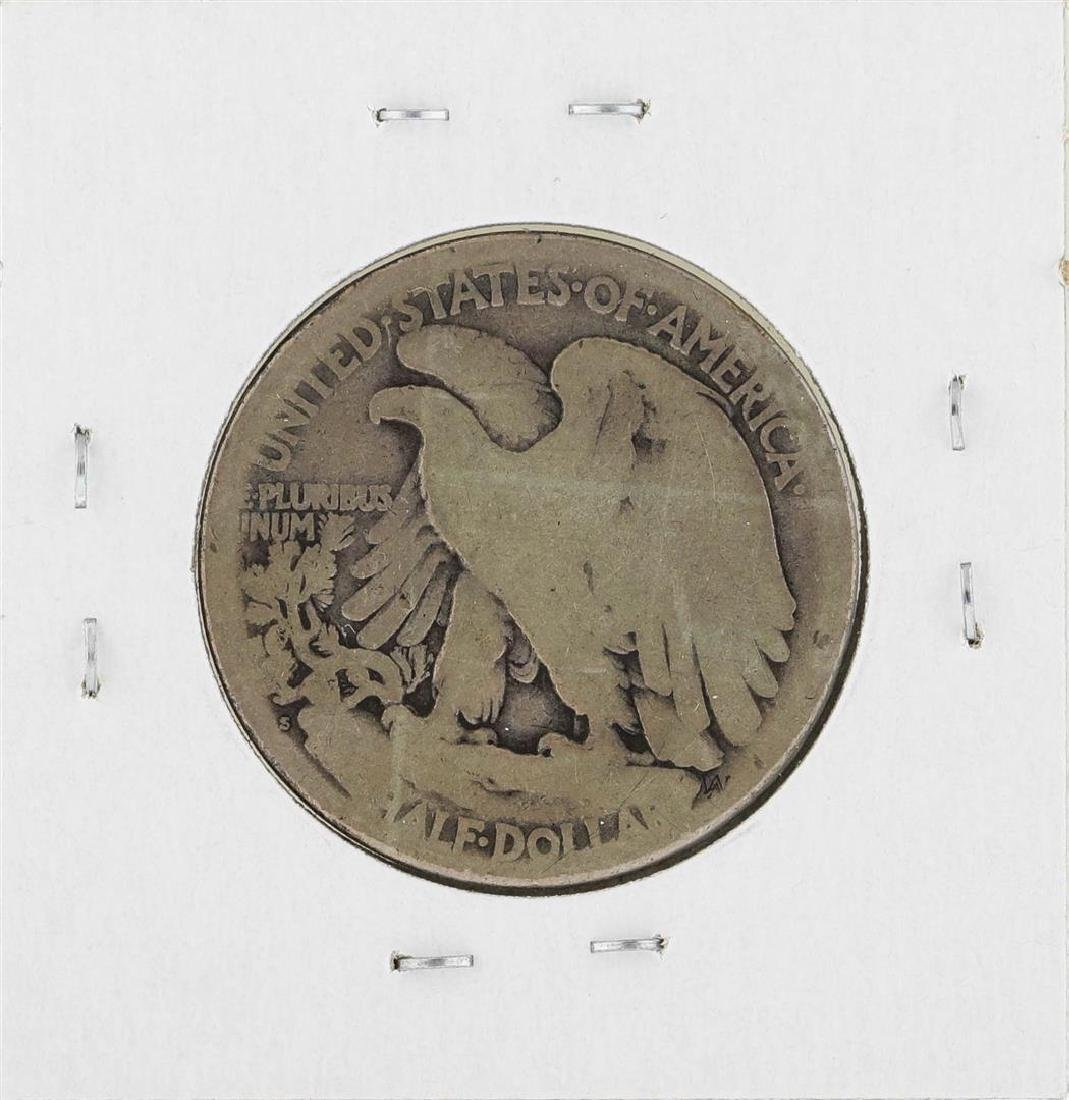 1921-S Walking Liberty Half Dollar Silver Coin - 2
