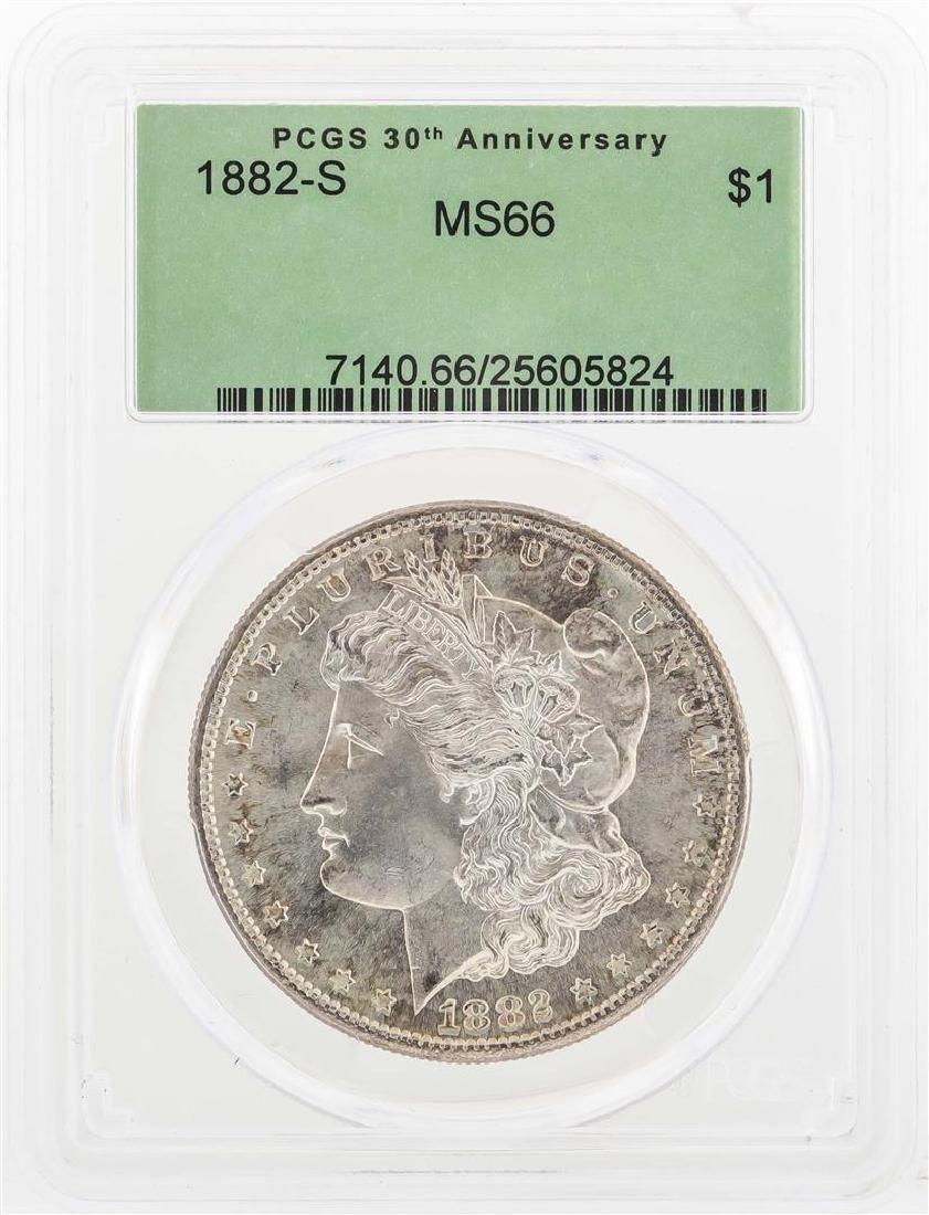 1882-S $1 Morgan Silver Dollar Coin PCGS MS66