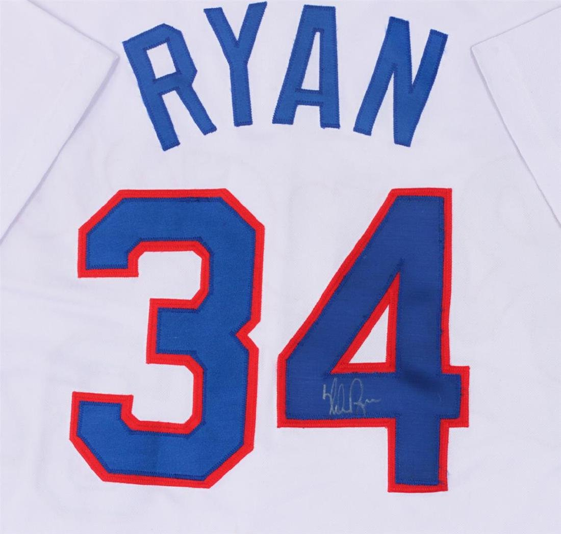 Texas Rangers Nolan Ryan Autographed Jersey - 2
