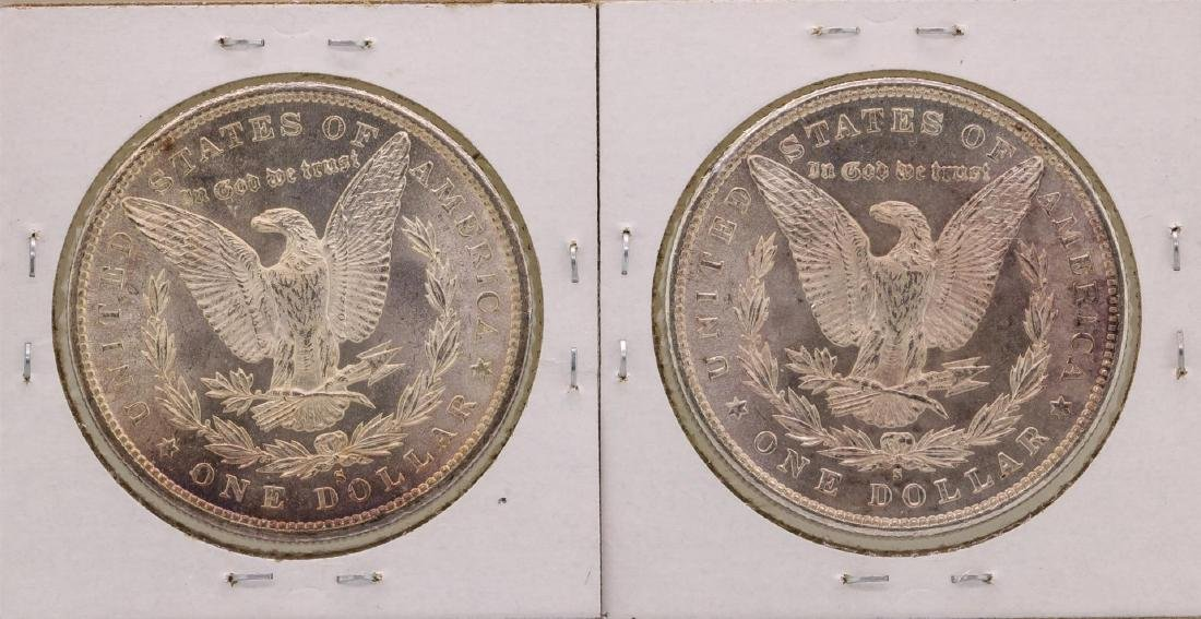 Lot of (2) 1880-S $1 Morgan Silver Dollar Coins - 2