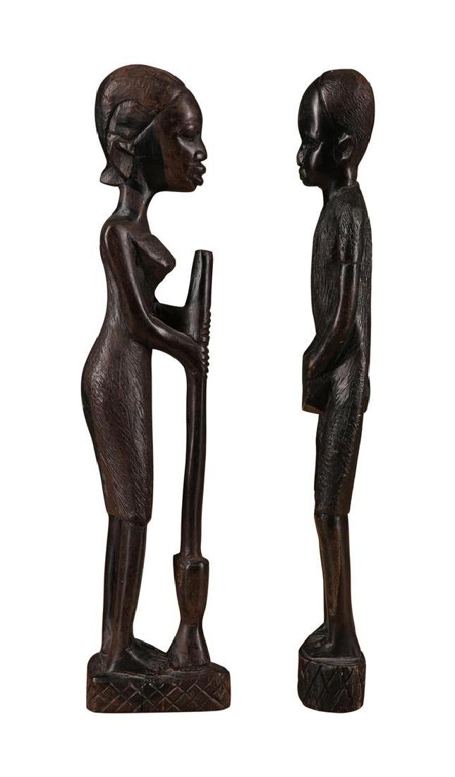 Pair of African Tribal Statues - 2