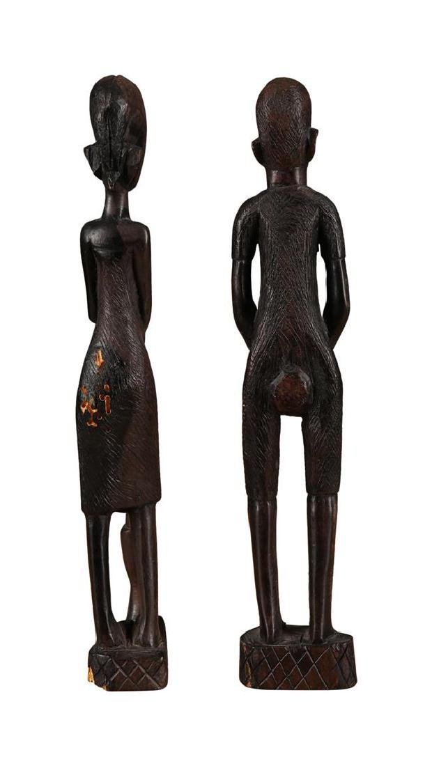 Pair of African Tribal Statues - 3