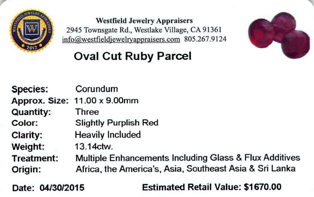 13.14 ctw Oval Mixed Ruby Parcel - 2