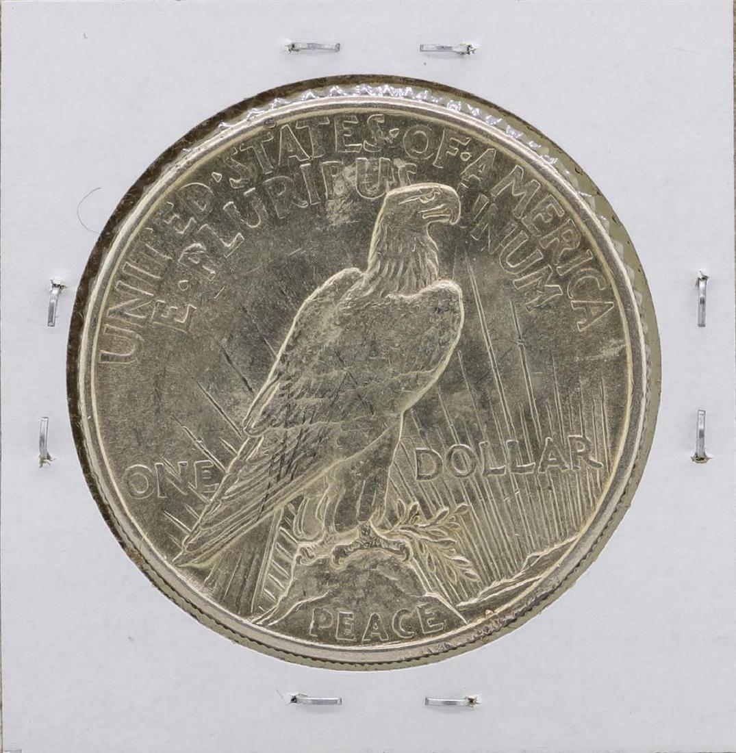 1921 $1 Peace Silver Dollar Coin - 2