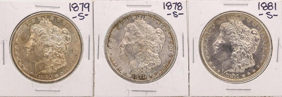 Lot of 1878-S, 1879-S, & 1881-S $1 Morgan Silver Dollar