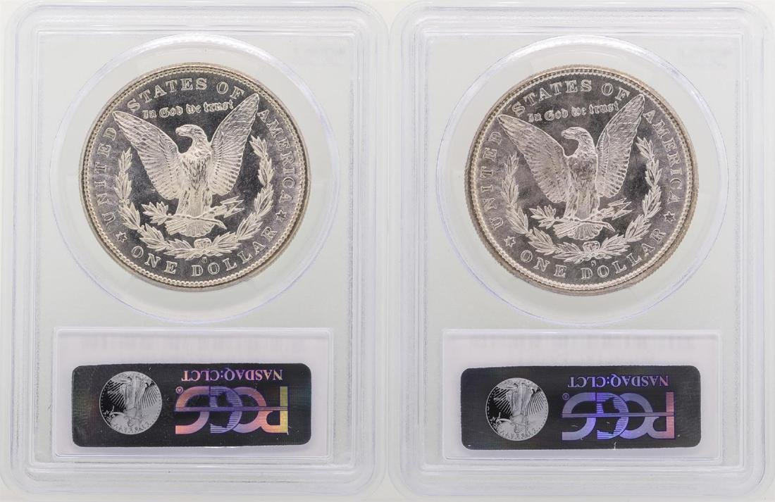Lot of (2) 1881-S $1 Morgan Silver Dollar Coins PCGS - 2