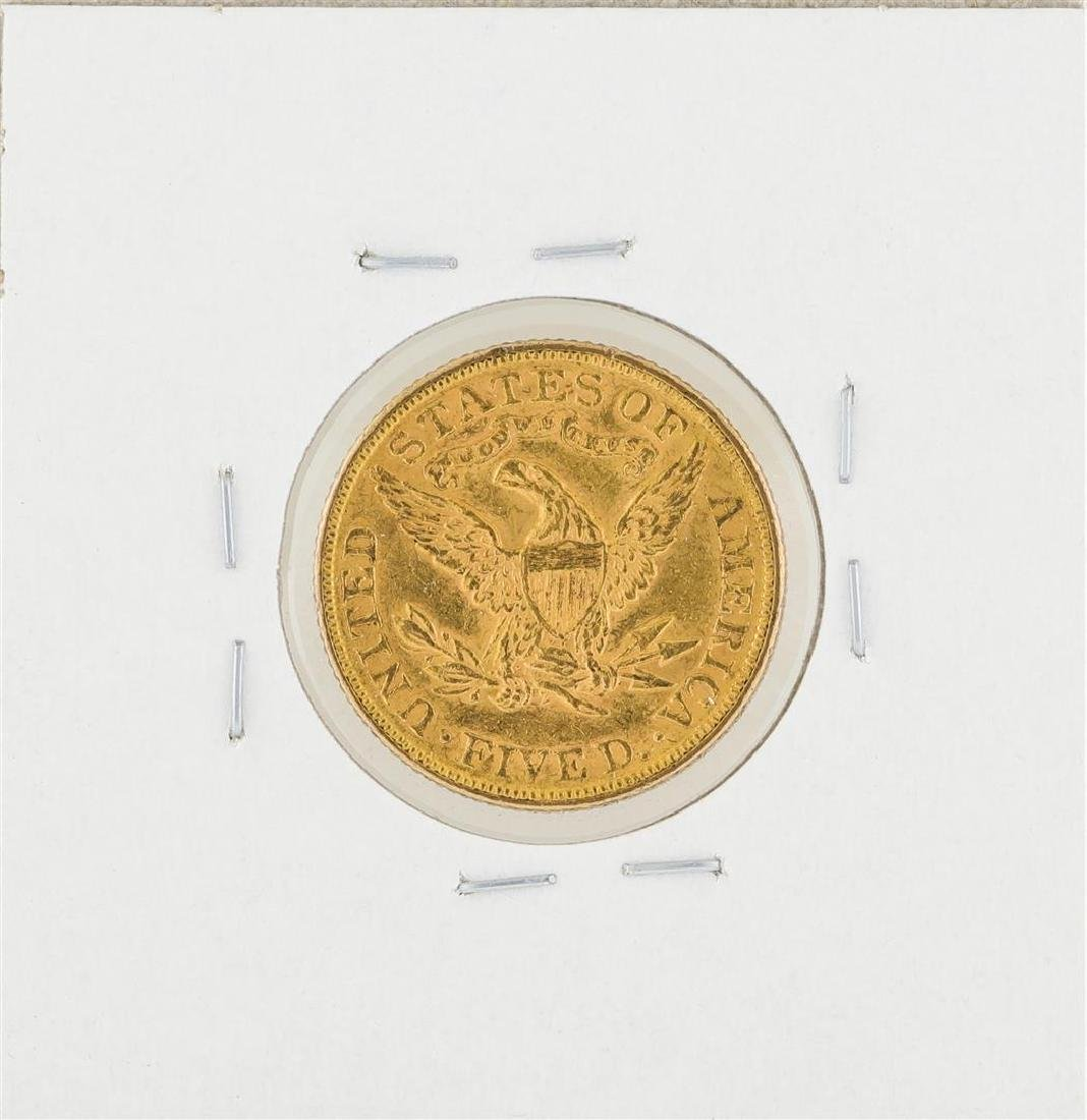 1893 $5 Liberty Head Half Eagle Gold Coin - 2