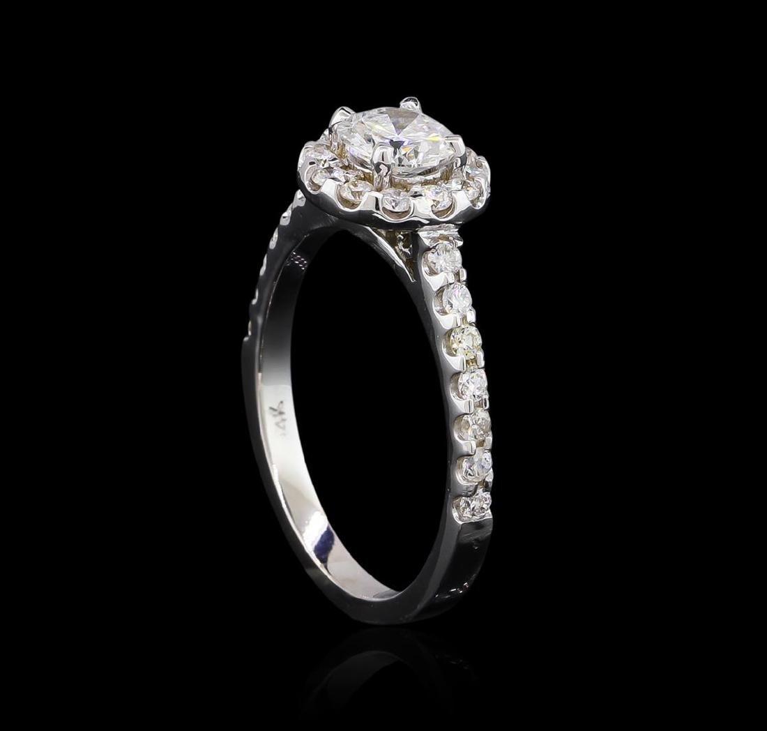 1.06 ctw Diamond Ring - 14KT White Gold - 4