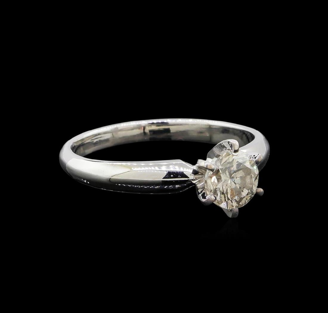 14KT White Gold 0.85 ctw Round Cut Diamond Solitaire